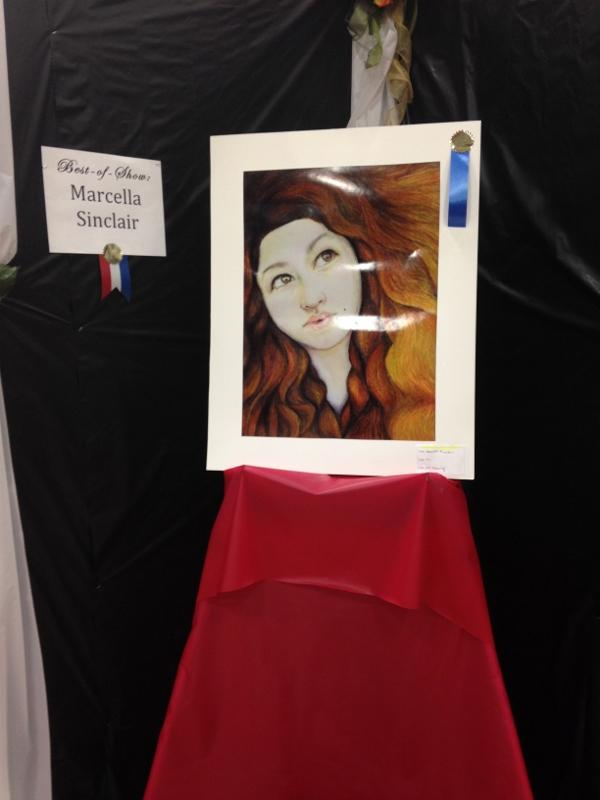 AP Art students stand out at art show